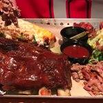 Choose your own platter - brisket, ribs, jalapeno sausage