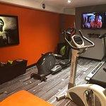 The hotel gym