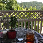 Front Porch table with a cool breeze and wonderful view