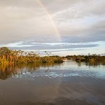Gorgeous rainbow at the lagoon.