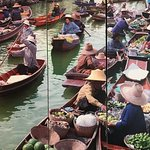 The floating market in Bangcok