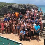 Our large group that had no problem on the beach. Kudos to Tobacco Bay