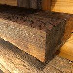Tiger Oak Reclaimed Wood Fireplace Mantel $450