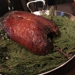 Roasted duck for two, very crispy skin