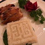 Roast Chicken in Sticky Rice