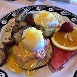 Honey Salmon Eggs Benedict: DROOL WORTHY