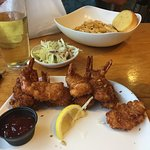 Coconut Shrimp and Pasta dishes