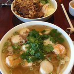The best Pho in town. Loaded with large shrimps and sea scallops.