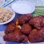 Chicken finger dinner with buffalo