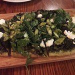 Pesto asparagus goat cheese flatbread