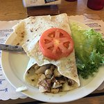 Salmon Lefse (come with soup or chili, and cole slaw)