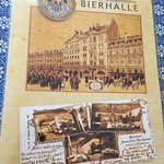 Historical information and menu