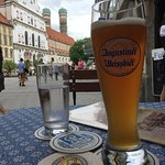 Zum Augustiner and Old Town in the background