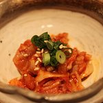salted Pacific cod entrails in spicy sauce