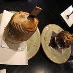 Bomb Alaska and hazelnut & chocolate rocher.