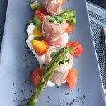 Lovely beef and asparagus starter
