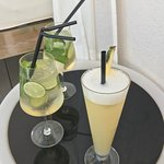 cocktails at the pool