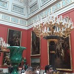 Interior Paintings and Chandelier