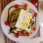 It took a week but finally we found the best Greek salad in Elounda....sometimes the best things