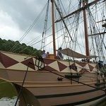 Replica of ships that carried settlers from England to Virginia