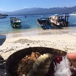 smoothie bowl with a view