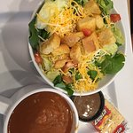 two-for salad and vegetarian chili
