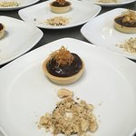 Mini chocolate and peanut butter tartlets for a function