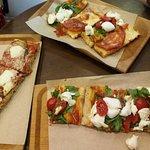 Pizza e Mozzarella Foto