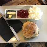 Fruit scone jam and cream - morning special from £2.95