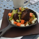 Sunday Brunch: Short Rib over garlic mashed potatoes (a must try)