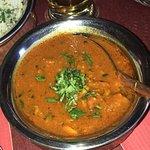 Butter Chicken, Chicken korma, Vegetables soup and Lamb roganjosh