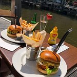 The Big Cheeseburger by the canal