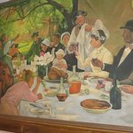 Delightful Mural Depicting A Country Wedding in France