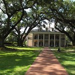 Oak Alley plantation front view of the big house