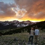 This is not a wildfire!  Its a Colorado Continental Divide Sunset.  Ari and Jen from Chicago.