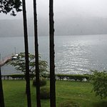 Actual view from room, misty when we arrived