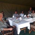 Lunch time at Kati Kati Tented camp in Serengeti National Park
