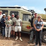 Our driver guide along with our clients just before game drive in Ngorongoro crater
