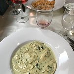 My dish Ravioli Di Ricotta Al Pesto was very tasty! Would recommend to a friend.