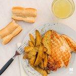 Pollo a la plancha con papas rústicas!