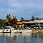 Back Bay Bistro with dog-friendly patio offers waterfront dining.