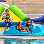 We offer pedal boats, standup paddleboard, Hydrobike rentals which kids & adults love.