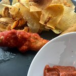 fired achiote fish and chips
