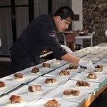 Servicio de banquete para las bodas en Casa Fernanda