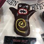 Voodoo Doll Doughnut (note the pretzel stake)!