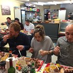 Everyone enjoying the BBQ Food we served.