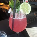 """The """"lei it on me"""" summer cocktail - delish and refreshing. Comprised of gin, hibiscus, guava an"""