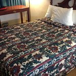 Needs updating, I didn't think they use bedspreads like this anymore.