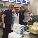 Gordon Ramsay. Gino DaCampo and Fred Sisieix visiting the best chip shop in Oban