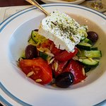 Greek Salad, Pizza Bistro Mediterean Greek Kitchen, photo by Mike Keenan
